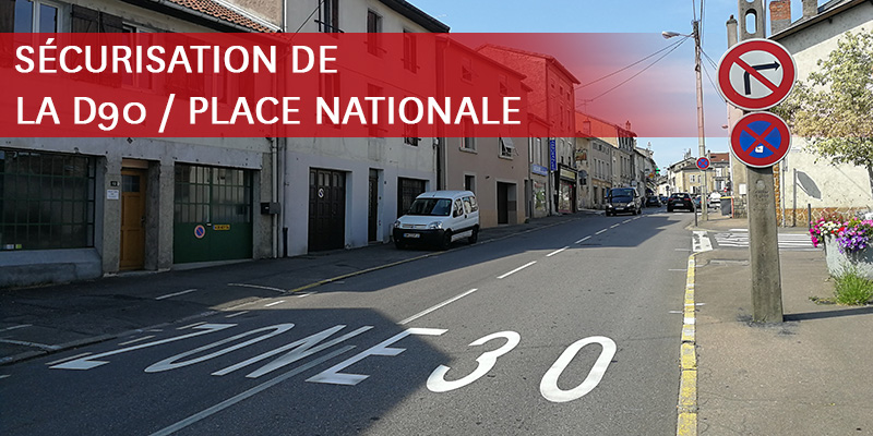 INFO TRAVAUX - PLACE NATIONALE